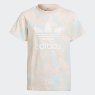 Meisjes Originals Roze Allover Print Marble T-shirt