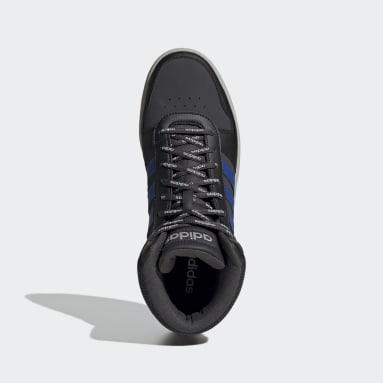 Men's Essentials Grey Hoops 2.0 Mid Shoes