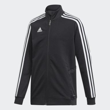 Youth Soccer Black Tiro 19 Training Jacket