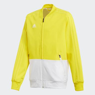 Kids Football Yellow Condivo 18 Presentation Jacket