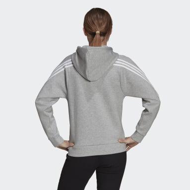 Women's Sportswear Grey adidas Sportswear Future Icons 3-Stripes Hooded Track Jacket