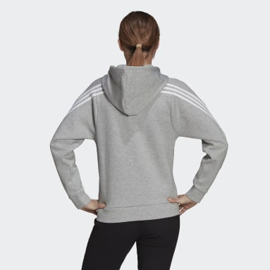 Women Sportswear Grey adidas Sportswear Future Icons 3-Stripes Hooded Track Top