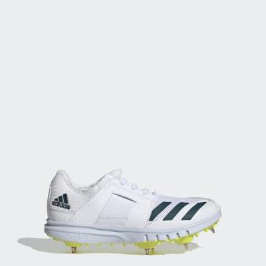 Boys Cricket White Howzat Spike Junior 20 Shoes