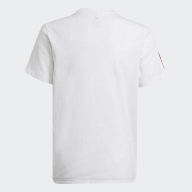 T-shirt adidas Essentials Colorblock Bianco Ragazzo Sportswear