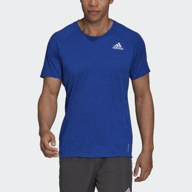 Muži Běh modrá Tričko Runner