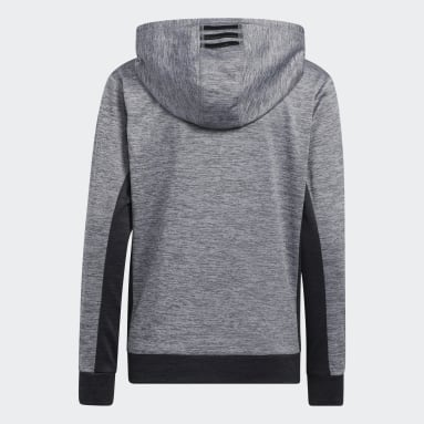 Youth Training Grey Colorblocked Mélange Hoodie