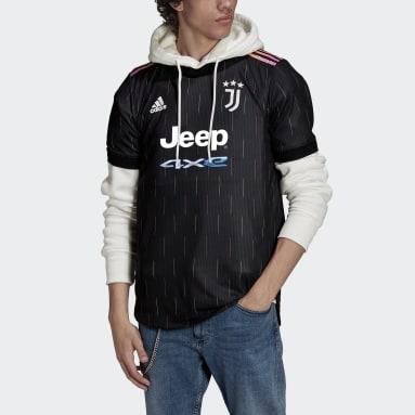 Mænd Fodbold Sort Juventus 21/22 Authentic udebanetrøje