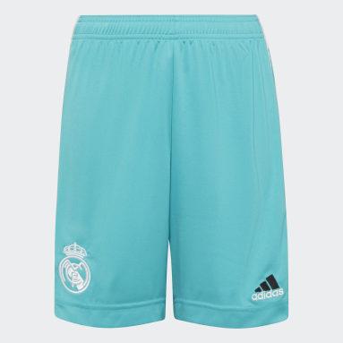 Kinderen Voetbal Turquoise Real Madrid 21/22 Derde Short
