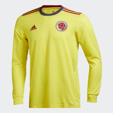 Camiseta Local Manga Larga Colombia 20/21 Amarillo Hombre Fútbol