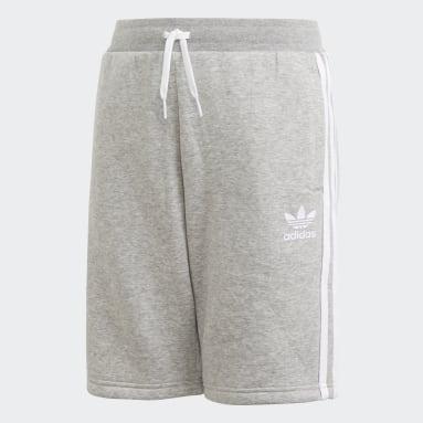 Kids Originals Grey Fleece Shorts