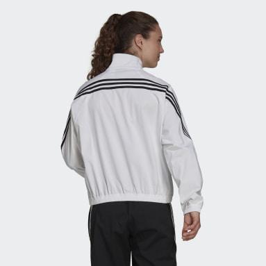 Frauen Sportswear adidas Sportswear Future Icons Woven Trainingsjacke Weiß