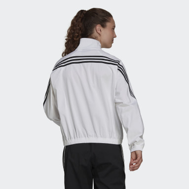 Ženy Sportswear bílá Sportovní bunda adidas Sportswear Future Icons Woven
