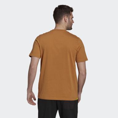 Men TERREX Brown Terrex Patch Mountain Graphic T-Shirt