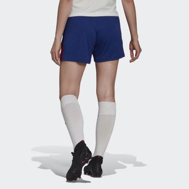 Pantalón corto entrenamiento Olympique de Lyon Tiro Azul Mujer Fútbol