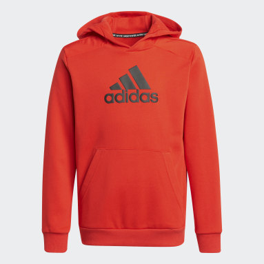 Boys Gym & Träning Röd Logo Hoodie