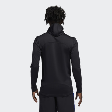 Men Running Black COLD.RDY Techfit Fitted Long-Sleeve Top Hoodie