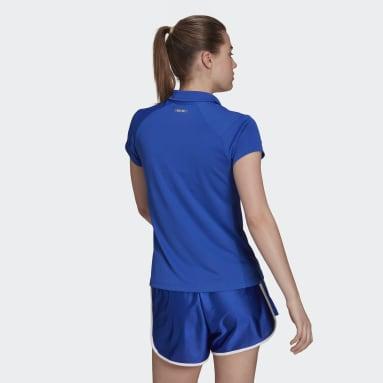 Women Tennis Blue HEAT.RDY Tennis Polo Shirt