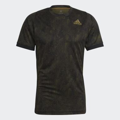 Men's Tennis Black Tennis Freelift Printed Primeblue Tee