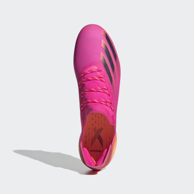 Botas de Futebol X Ghosted.1 – Piso firme Rosa Futebol