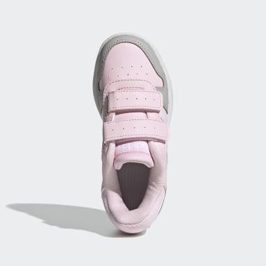 Kids Basketball Pink Hoops 2.0 Shoes