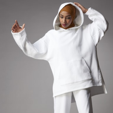 Women Originals White Adicolor Fleece Hoodie