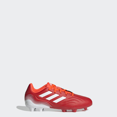 Calzado de Fútbol Copa Sense.3 Terreno Firme Rojo Niño Fútbol