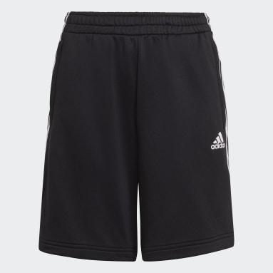 Boys Training Black AEROREADY Primegreen 3-Stripes Shorts