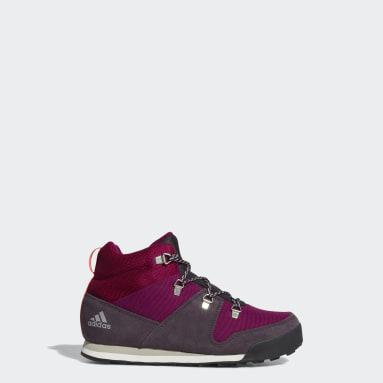 Children TERREX Burgundy Terrex Climawarm Snowpitch Winter Shoes