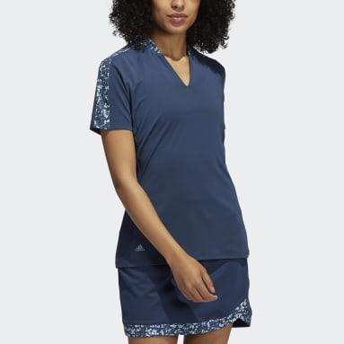 Women Golf Blue Ultimate365 Primegreen Polo Shirt