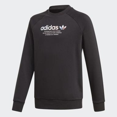 Kids Originals Black Adicolor Crew Sweatshirt