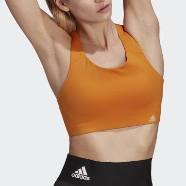 Women Training Orange Ultimate Bra