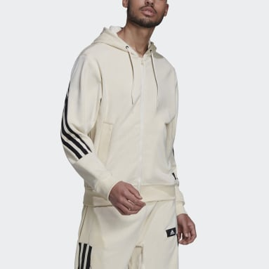Veste à capuche adidas Sportswear Future Icons Full-Zip Blanc Hommes Sportswear