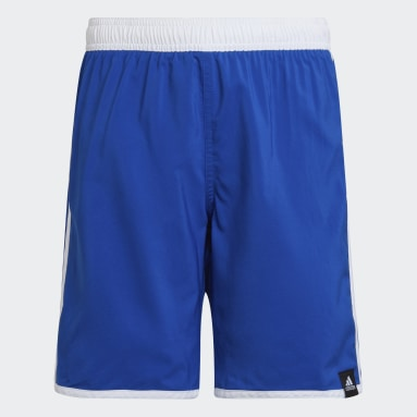 Boys Swimming Blue 3-Stripes Swim Shorts