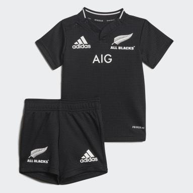 Børn Rugby Sort All Blacks Primeblue Replica Infant hjemmebanesæt