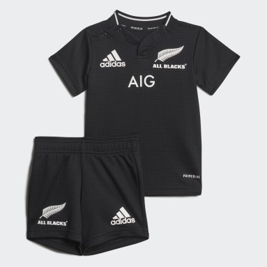 Kinderen Rugby Zwart All Blacks Primeblue Replica Peuter Thuistenue