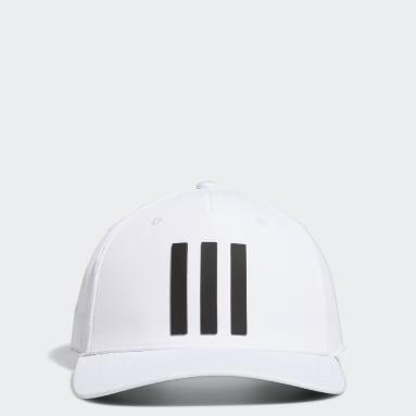 Men's Golf White Golf 3-Stripes Tour Hat