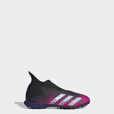 Kids Football Black Predator Freak.3 Laceless Turf Boots
