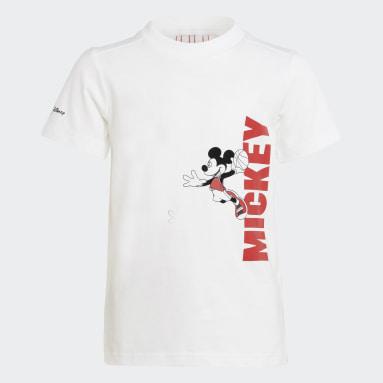 Conjunto Verano Disney Mickey Mouse Blanco Niño Gimnasio Y Entrenamiento
