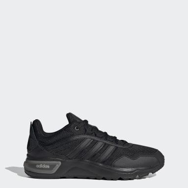 Essentials Black 90s Runner Shoes