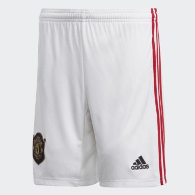 Boys Football White Manchester United Home Shorts