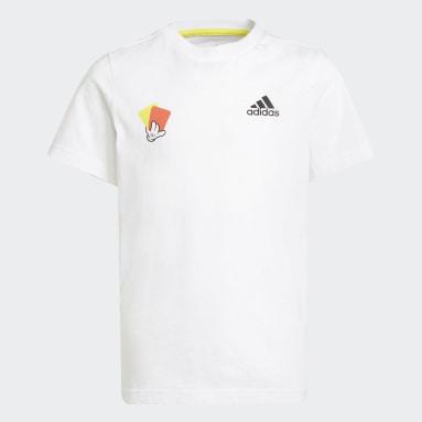Camiseta Estampada Mascot Number Branco Meninos Futebol