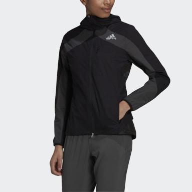 Ženy Běh černá Bunda Adizero Marathon