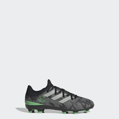 Chaussure Gamemode Knit Terrain souple Noir Enfants Football