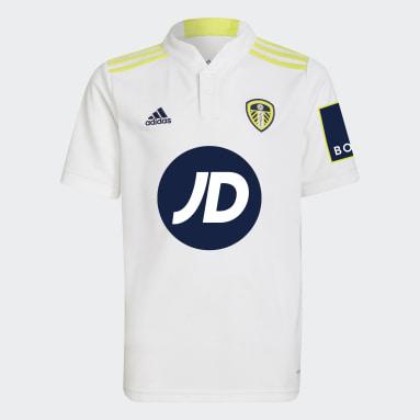 Maillot Domicile Leeds United FC 21/22 Blanc Enfants Football