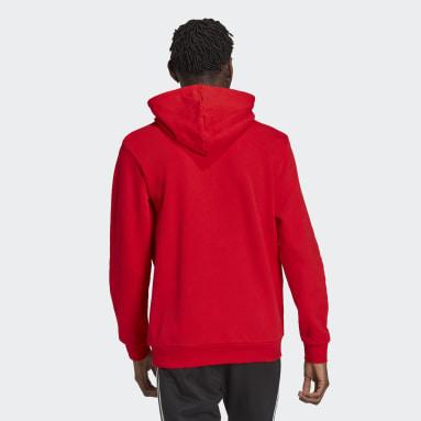 Sweat-shirt à capuche Adicolor Classics Trefoil Rouge Hommes Originals