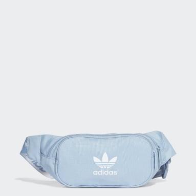 Originals Blue Adicolor Branded Webbing Waist Bag