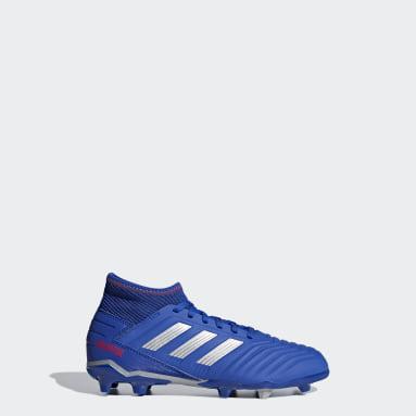 Calzado de Fútbol Predator 19.3 Terreno Firme (UNISEX) Azul Niño Fútbol