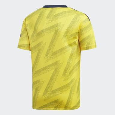 Youth 8-16 Years Football Yellow Arsenal Away Jersey