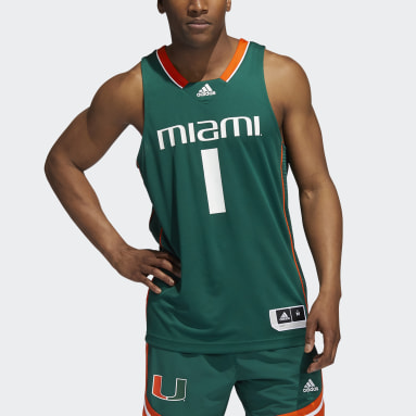 Men's Basketball Green Hurricanes NCAA Swingman Jersey