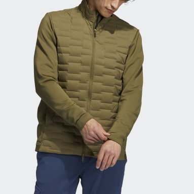 Men Golf Green Frostguard Recycled Content Full-Zip Padded Jacket
